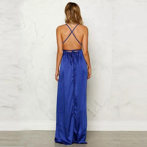 Maternity Solid Color Condole Belt Maxi Dress