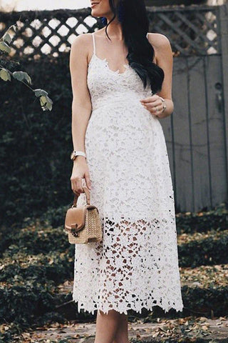 Maternity Sexy Sling Strap Lace Dress