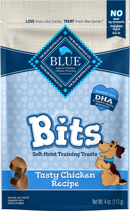 Blue Buffalo Bits Tasty Chicken Natural Soft-Moist Training Treats