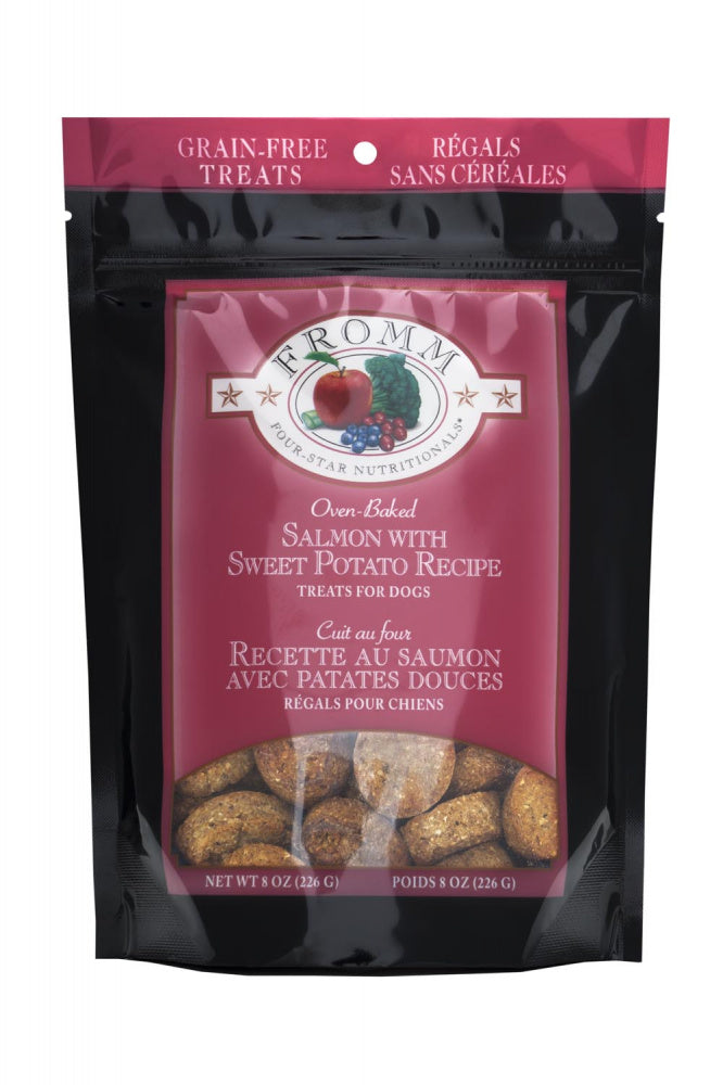 Fromm Four Star Grain Free Salmon with Sweet Potato 8oz Bag of Dog Treats