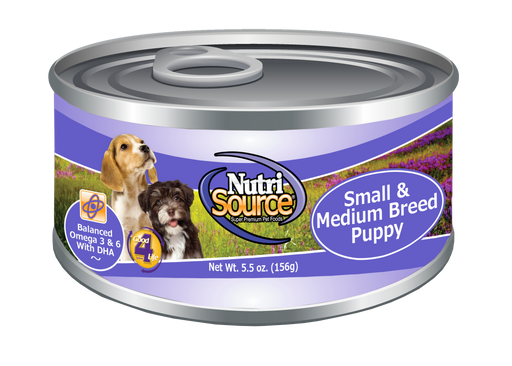Nutrisource Small & Medium Breed Puppy Chicken and Rice Canned Dog Food 5.5z