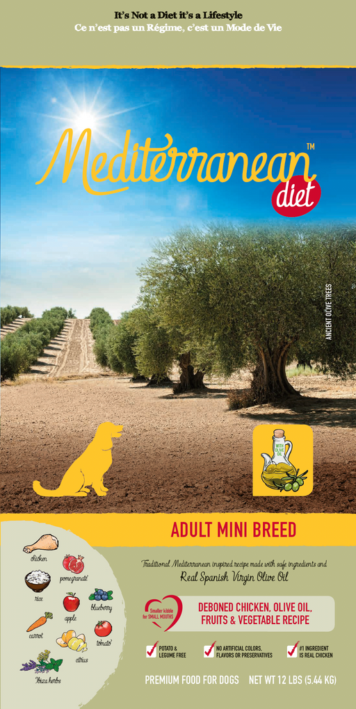 Mediterranean Diet Adult Mini Breed Chicken and Olive Oil