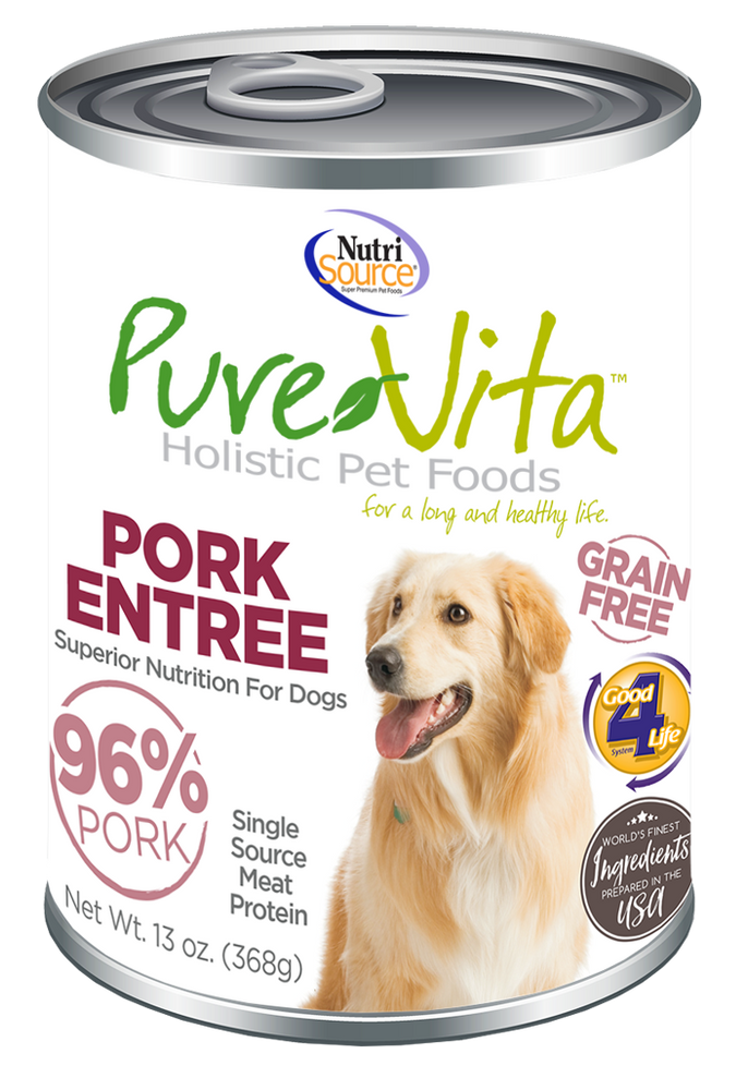 PureVita Grain Free 96% Real Pork Entree Canned Dog Food