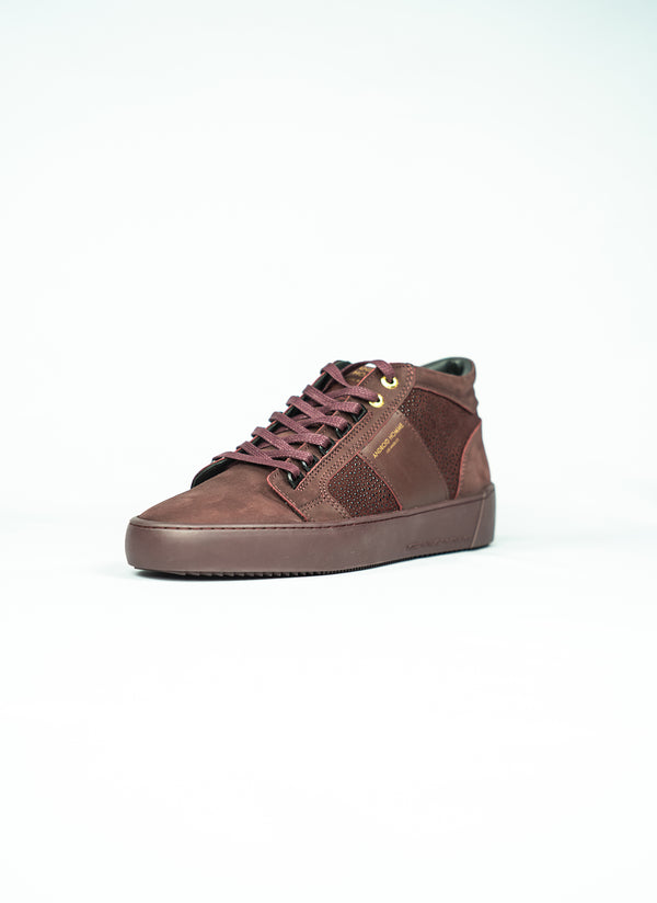 Propulsion mid burgundy stingray suede
