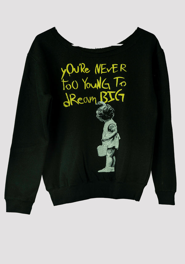 Banksy Wide Neck Sweatshirt