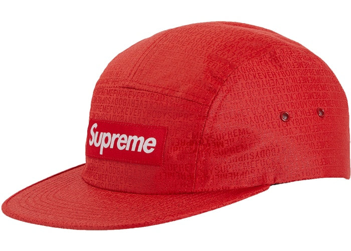Supreme Fuck Everybody Jacquard Camp Cap