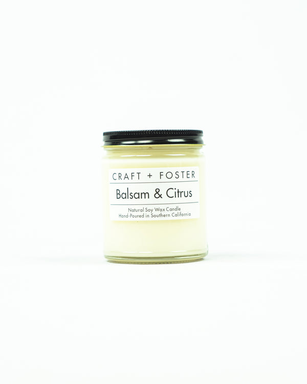 Craft and Foster Balsam & Citrus Candle