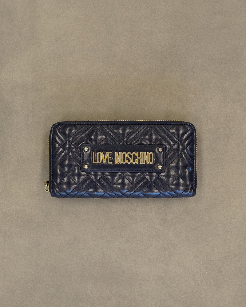 Metal Logo Long Wallet