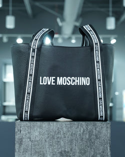Leather Logo Tote