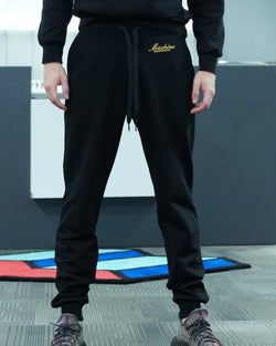 Gold Embroidery Sweat Pants