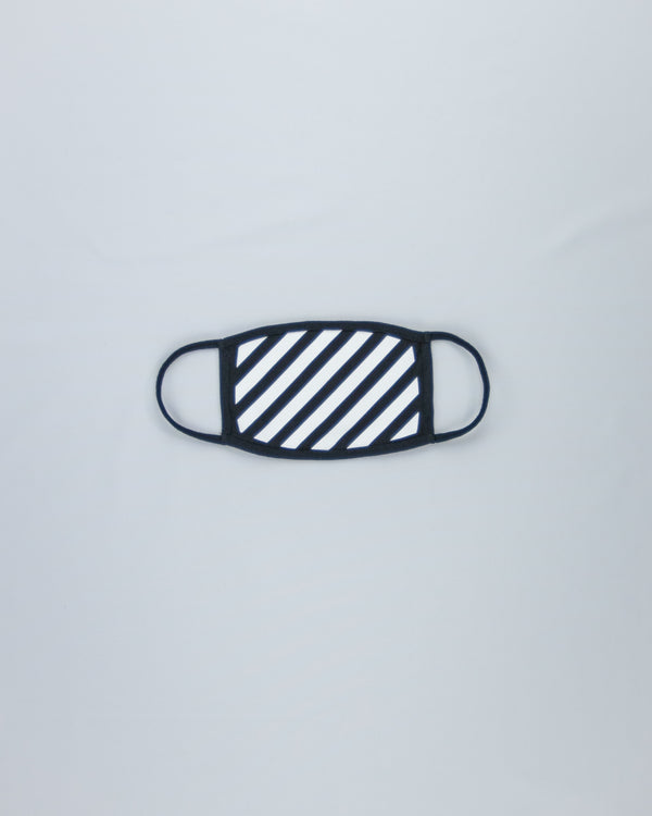 Black and White Striped Cotton Mask