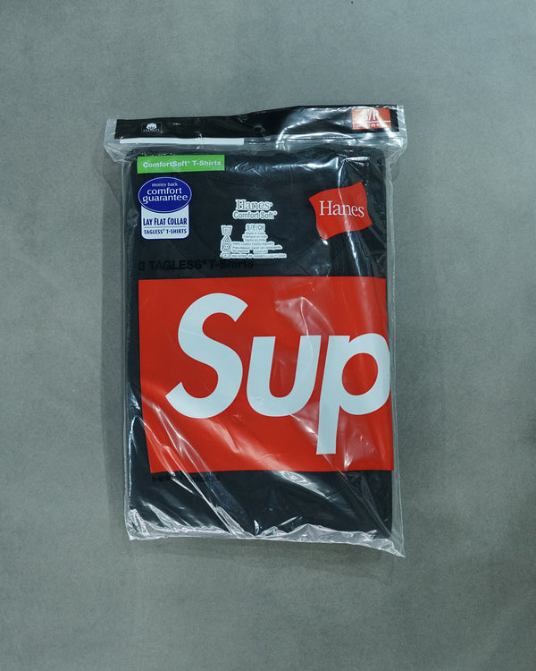 Supreme Hanes 3 pack t-shirt Black