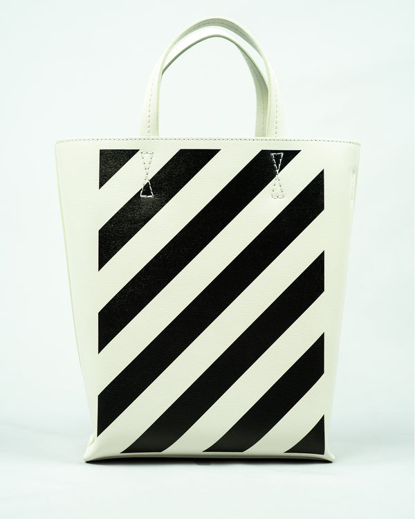 diagonal stripes tote