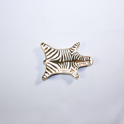 Zebra Stacking Dish Gold