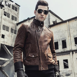 Men's leather motorcycle Jacket - Junitas Online Store