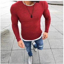 Load image into Gallery viewer, Men's Sexy Skinny Sweater Plus Size S-5XL - Junitas Online Store