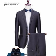 Load image into Gallery viewer, Suit Groom Tuxedo Blazer Slim Fit 2 Piece - Junitas Online Store