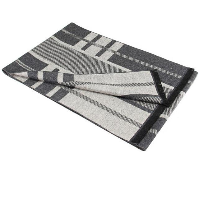 Mens Scarf Gray Striped - Junitas Online Store