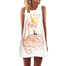 Load image into Gallery viewer, Short Summer Dress Flamingo - Junitas Online Store