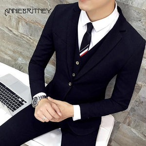 Men Suits Designers 3 Piece Jacket Pants Vest - Junitas Online Store
