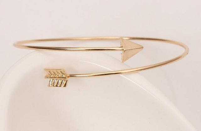Gothic Punk Women Ladies Arrow Bangle Cuff Bracelet - Junitas Online Store