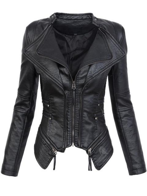 Motorcycle Jacket faux leather - Junitas Online Store
