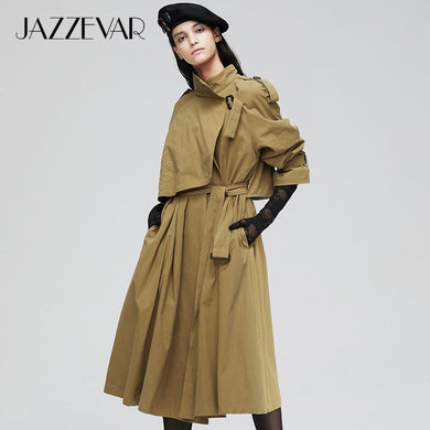 New arrival autumn trench coat cotton washed with belt - Junitas Online Store