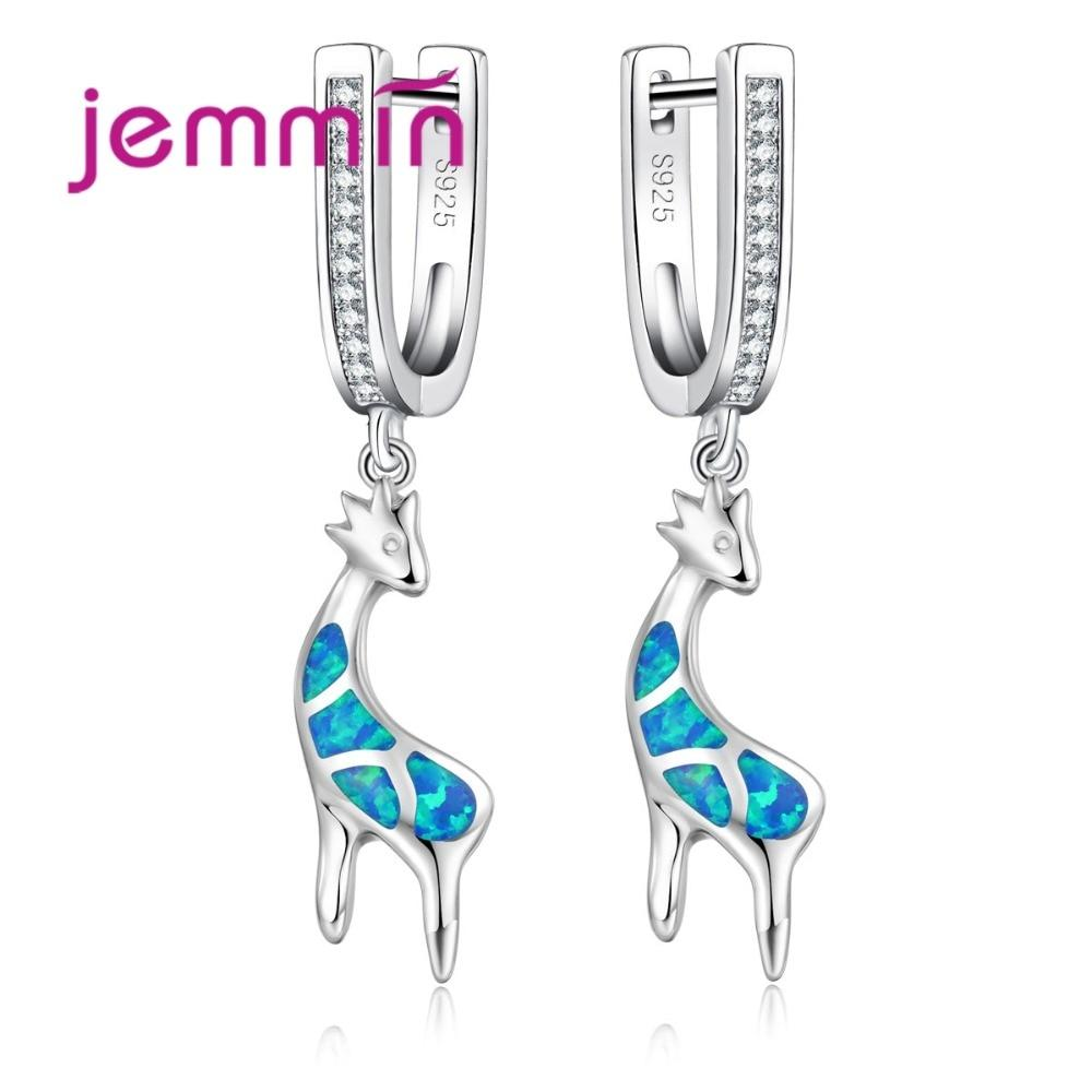 Original Animal Giraffe Dangle Earrings OPAL - Junitas Online Store