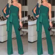 Load image into Gallery viewer, One Shoulder Long Sleeves Jumpsuit - Junitas Online Store