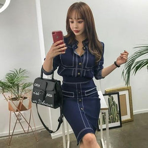 Ladies Casual Knitted Fashion Suit - Junitas Online Store