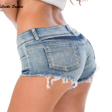 Load image into Gallery viewer, Skinny denim cotton super short jeans Girls - Junitas Online Store