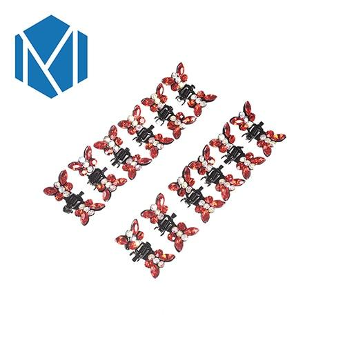 M MISM 1Set=12PCS Girls Princess Rhinestone Mini Hair Claws Barrettes Beautiful Cute Sweet Animal Hair Clips Clamps Accessories - Junitas Online Store