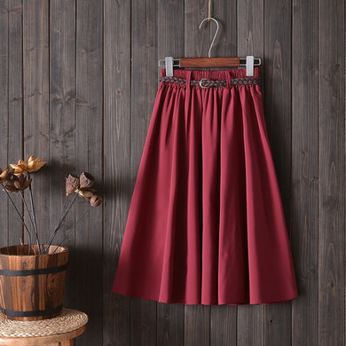 Midi Knee Length Summer Skirt