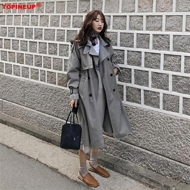 Double Breasted Vintage Autumn winter trench overcoats with Belts