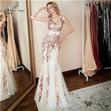 Load image into Gallery viewer, Evening Dress formal Luxury Gold Sequin - Junitas Online Store