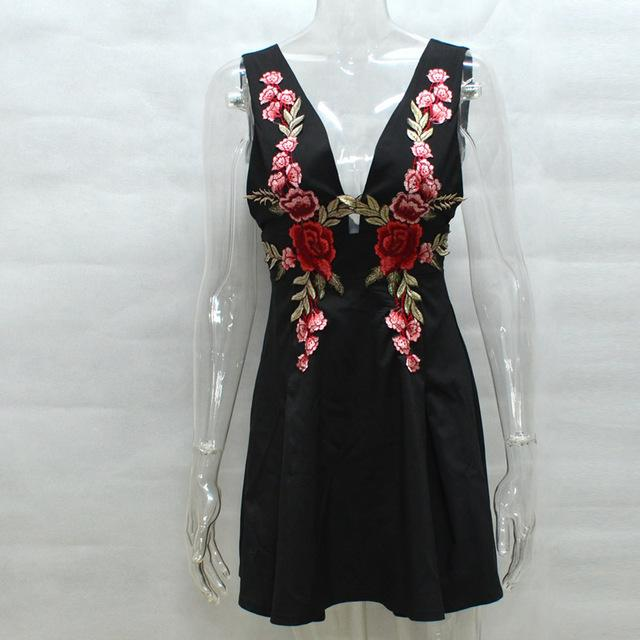 Summer Dress Embroidery Floral - Junitas Online Store