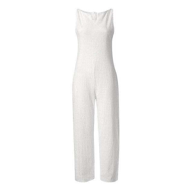 Wide Leg Loose Jumpsuit Plus Size - Junitas Online Store