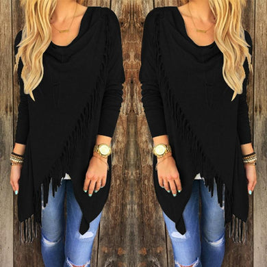 Causal Tassel Shirt Long Sleeve - Junitas Online Store