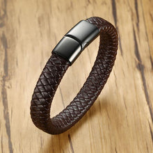 Load image into Gallery viewer, 12mm Real Leather Bracelet For Men Women - Junitas Online Store