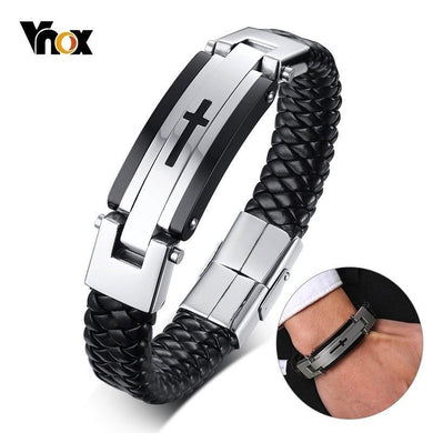 Braided Real Genuine Leather Bracele