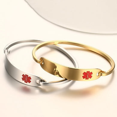 Medical Alert ID Bangle Men Women