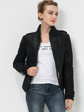 Load image into Gallery viewer, Women's Pigskin biker slim Real leather - Junitas Online Store
