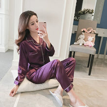 Load image into Gallery viewer, Women's Pajama Sets Silk Satin - Junitas Online Store