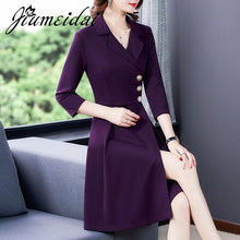Load image into Gallery viewer, Autumn A-Line Dress Office Lady - Junitas Online Store
