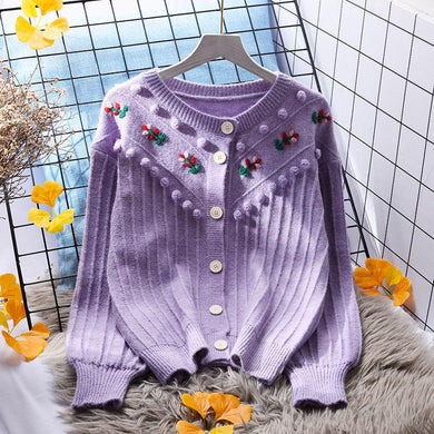Autumn Sweet Embroidery Sweater - Junitas Online Store