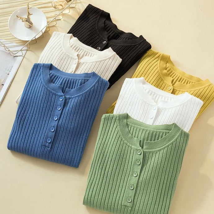 Button Sweater Knitted - Junitas Online Store
