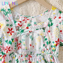 Load image into Gallery viewer, Children Floral Print Dress - Junitas Online Store