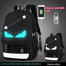 Load image into Gallery viewer, Anime Luminous USB Charging School Bag - Junitas Online Store