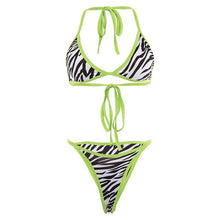 Load image into Gallery viewer, Elastic Bikini Sets Striped - Junitas Online Store