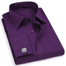 Load image into Gallery viewer, French Cuff Men's Dress Shirt High Quality - Junitas Online Store